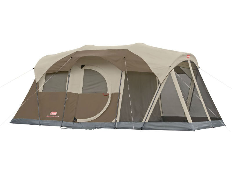 With Rainfly Attached - Coleman Weathermaster 6 Person Tent  sc 1 st  Smart C&ing Tent Reviews : black diamond 3 person tent - memphite.com