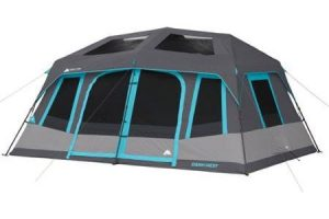 Ozark Trail 10-Person Dark Rest Instant Cabin Tent  sc 1 st  Smart C&ing Tent Reviews : ozark trail cabin tents - memphite.com