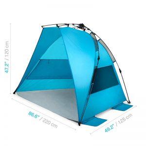 Best Beach Tent - Pacific Breeze Easy Up Beach Tent
